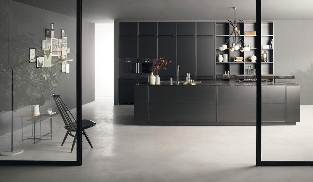 factory handleless kitchen