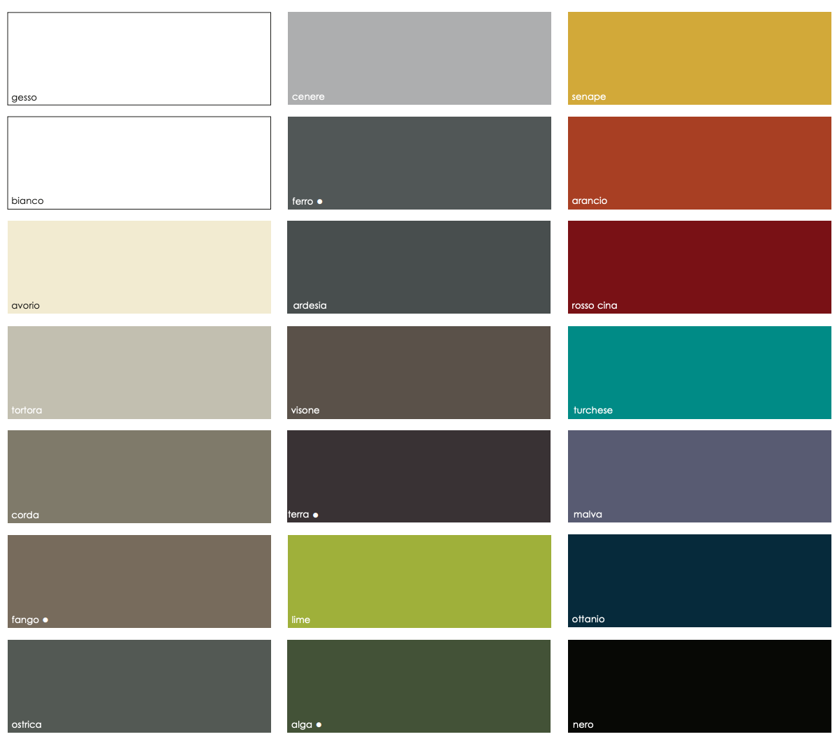 Colour palette Aleph bookcase