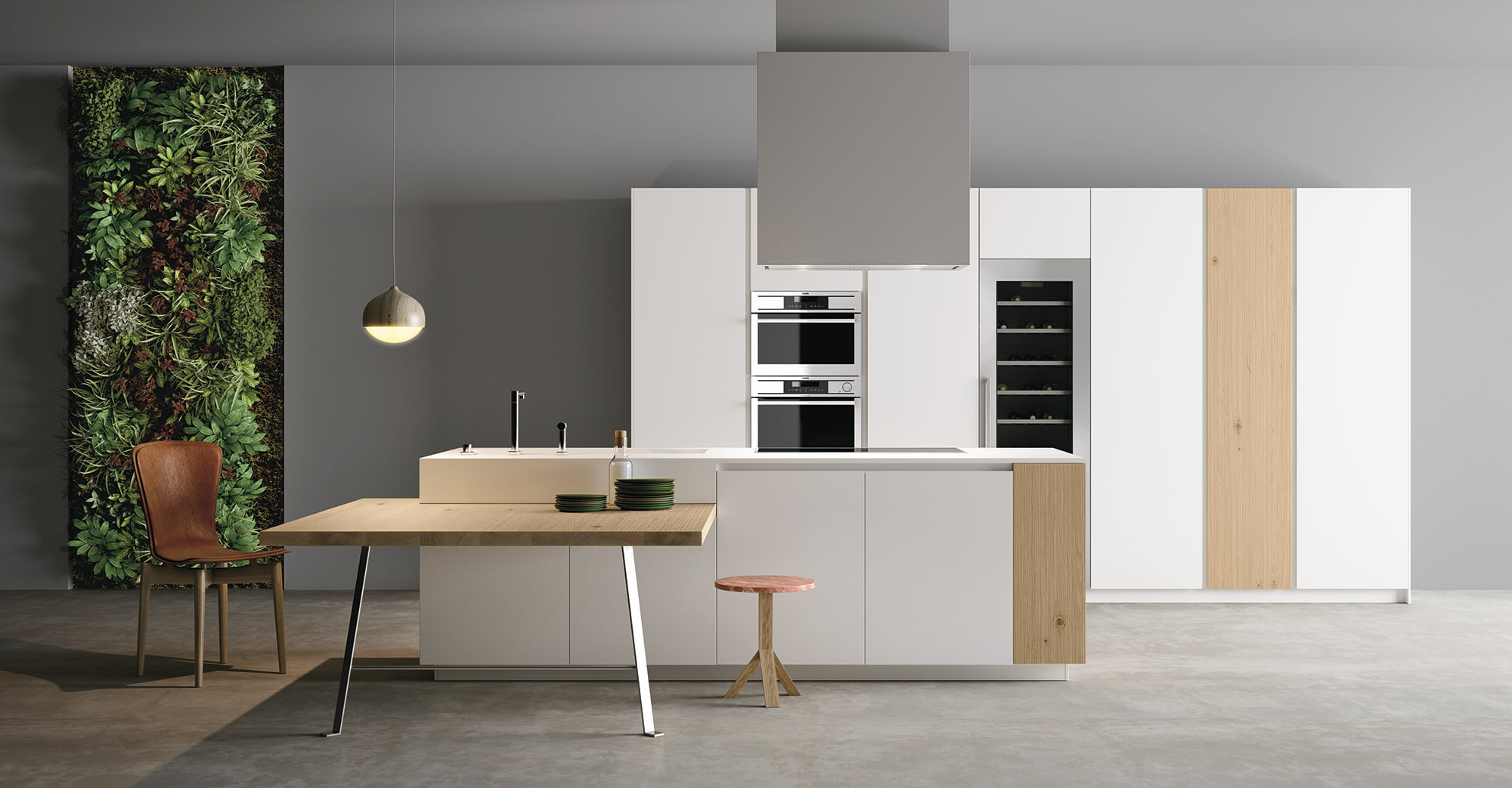 Materia Natural Italian Handleless Kitchen