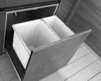 Built in bin drawer